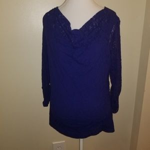Valerie Stevens size large royal blue top
